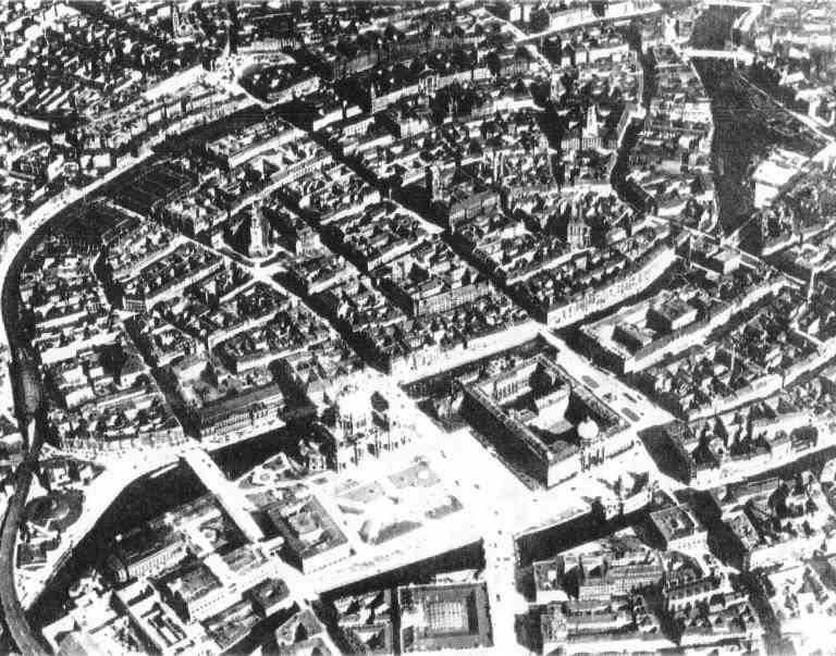Inner city of the 1920th century Berlin