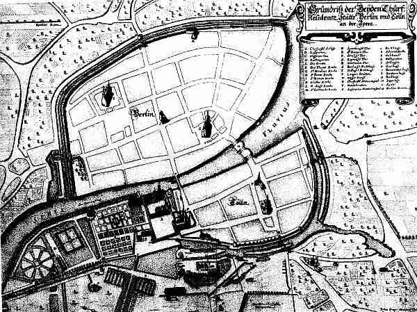 Historical Townmap of Berlin 1652