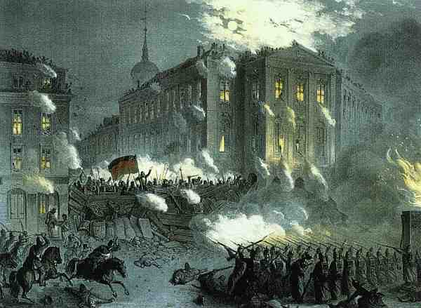 Barrikadenkampf Alexanderplatz